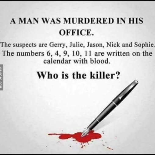 Who is the murderer?